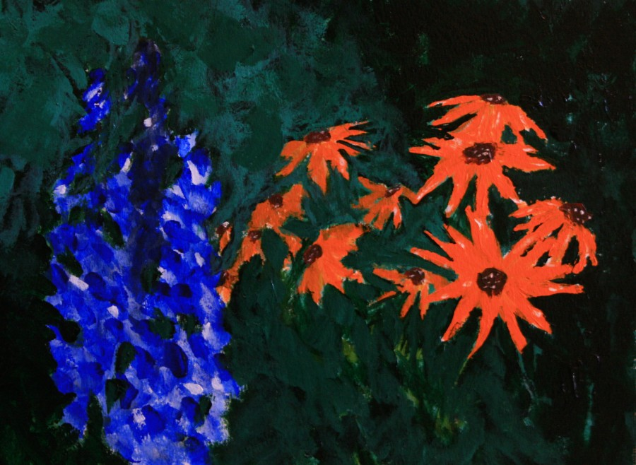 Orange and Blue Flowers | Travels With Picasso