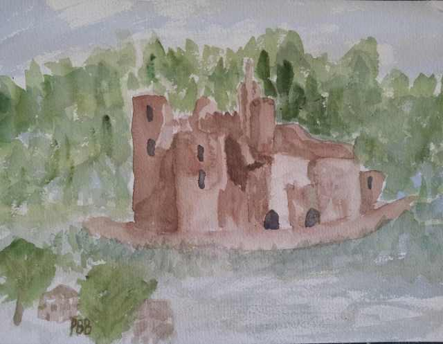 Chateau du Bonaguil - Watercolor