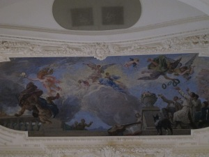 One of the many ceiling panels
