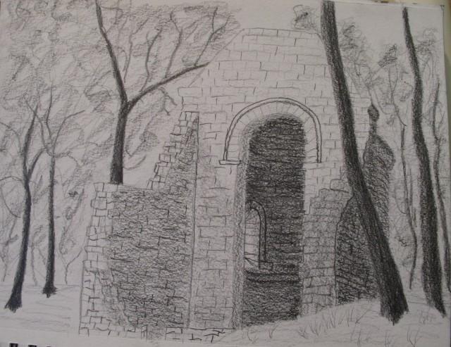 Pencil Drawing of Saint Avit