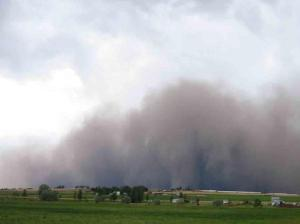 Idaho dust storm.