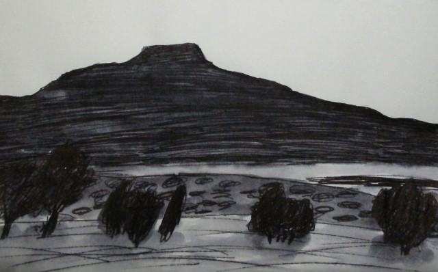 O'Keeffe Country in Ink