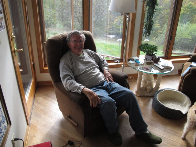 Don Michels Telling Stories In His Favorite Chair